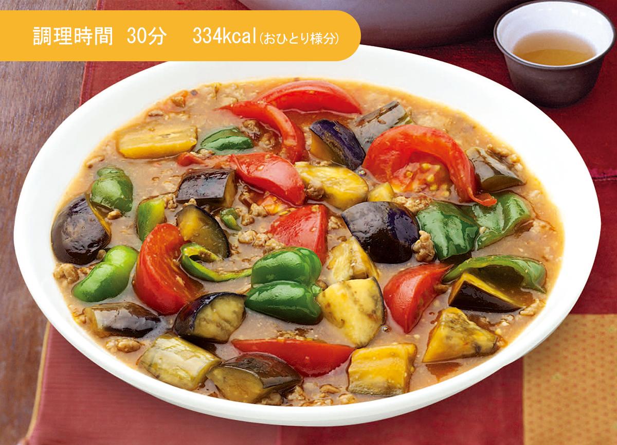 季節野菜の麻婆炒め